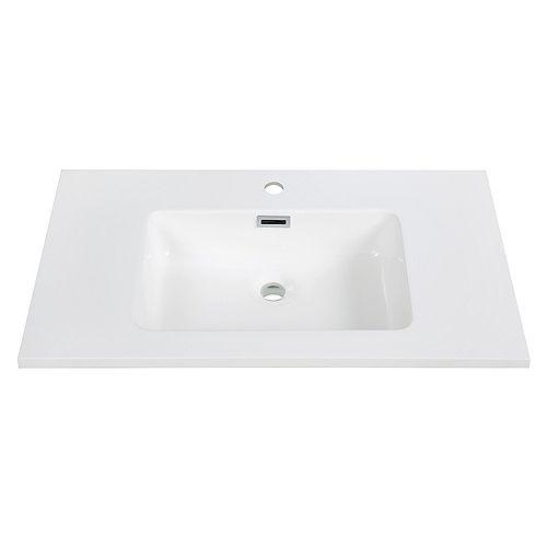 32 inch Solid Surface Resin Streamline K-161-SLSITRC-32 Vanity Top