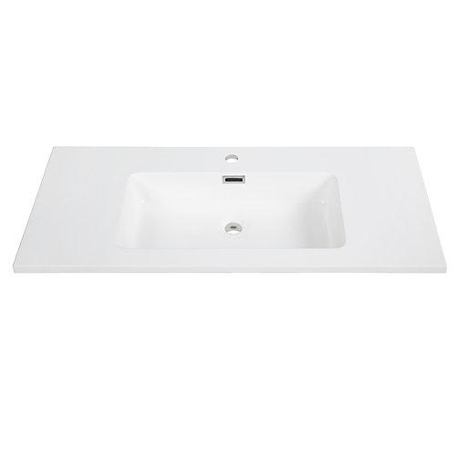 40 inch Solid Surface Resin Streamline K-161-SLSITRC-40 Vanity Top