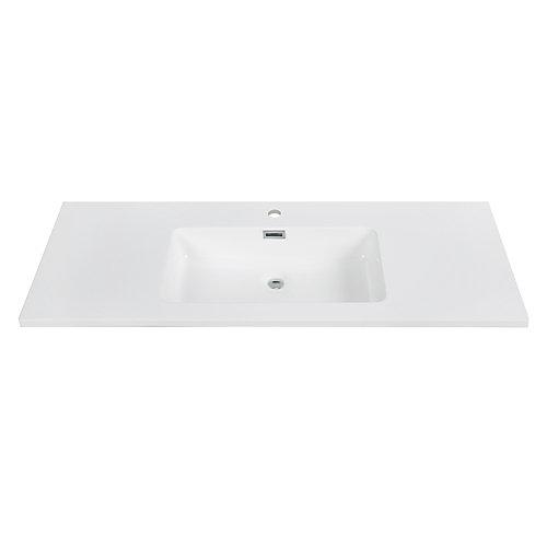 48 inch Solid Surface Resin Streamline K-161-SLSITRC-48 Vanity Top