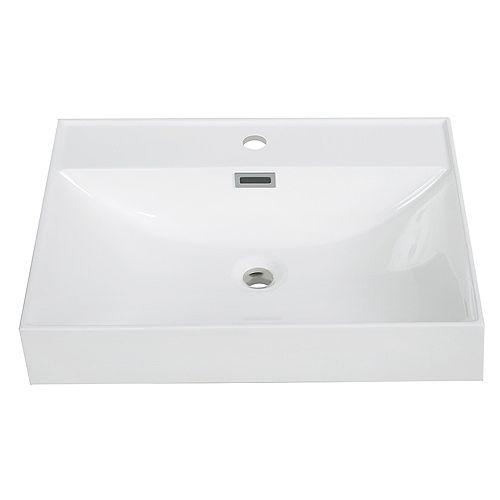 24 inch Solid Surface Resin Streamline K-170-SLSITRC-24 Vanity Top