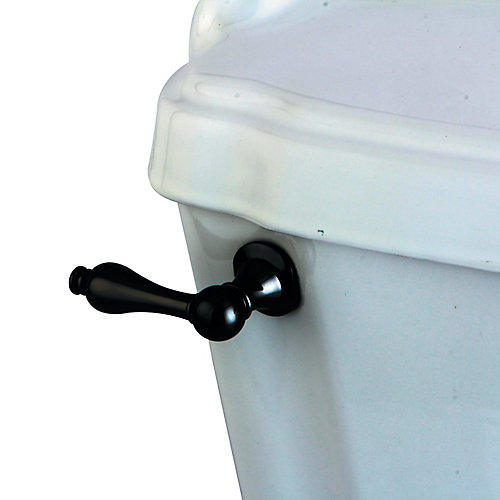 Classic Toilet Tank Lever in Black Stainless Steel