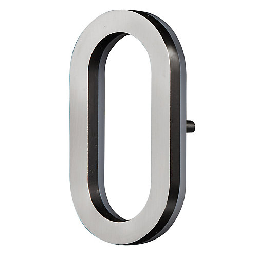 LED Backlit House Number - Satin Nickel #0