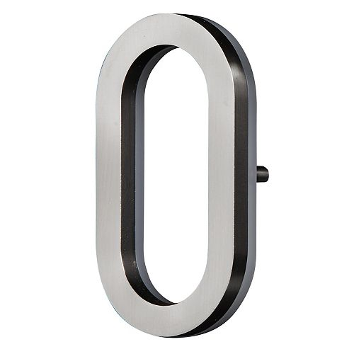 LED Backlit House Number - Satin Nickel #0
