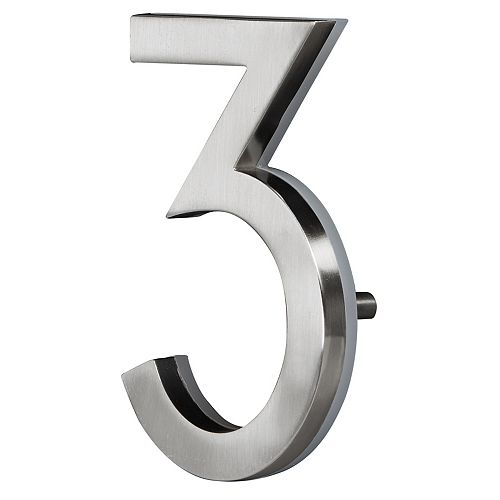 LED Backlit House Number - Satin Nickel #3