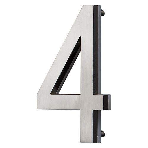 LED Backlit House Number - Satin Nickel #4