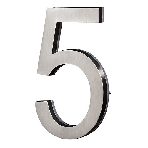 PRO-DF Chiffre de Maison Rétroéclairé à DEL - Nickel Satiné #5