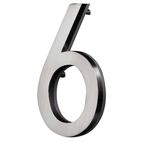 PRO-DF LED Backlit House Number - Satin Nickel #6