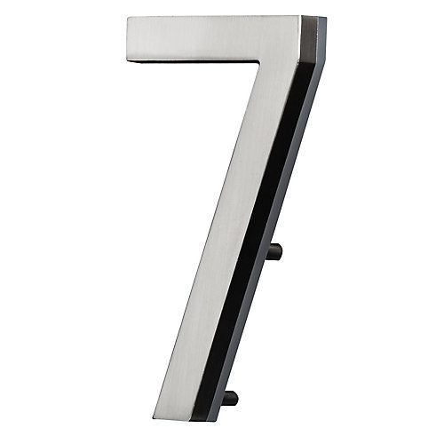 LED Backlit House Number - Satin Nickel #7