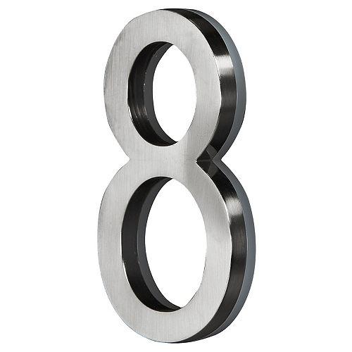 LED Backlit House Number - Satin Nickel #8