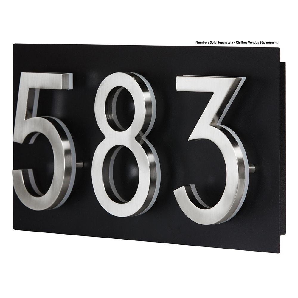 PRO-DF Address Plaque for LED Backlit Numbers - Small