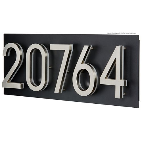 PRO-DF Address Plaque for LED Backlit Numbers - Large