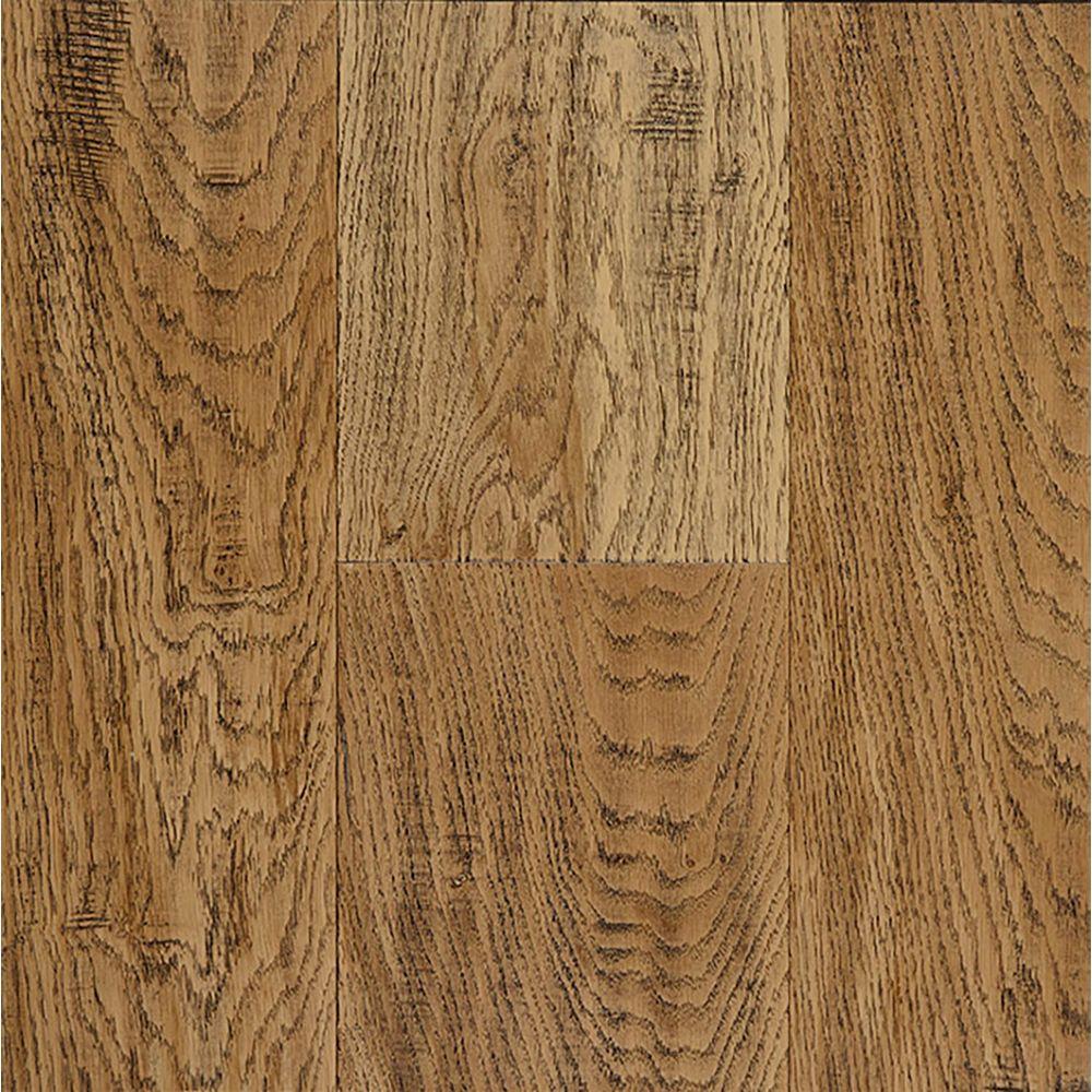 OptiWood Aged Bourbon 0.31-inch x 7.48-inch x Varying Length Wide Waterproof Hardwood Flooring (17.47 sq. ft. / case)