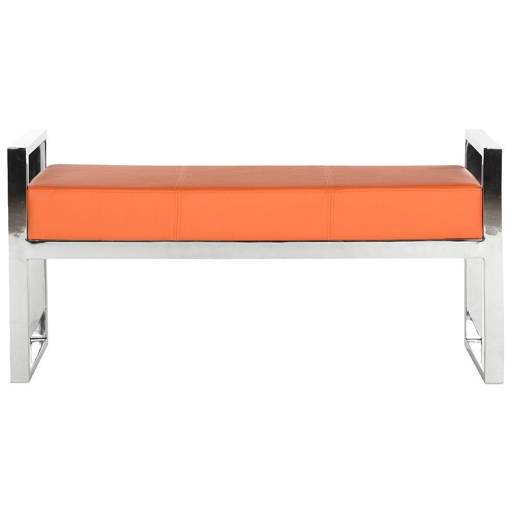 Safavieh Banc de Slade en Orange / Chrome
