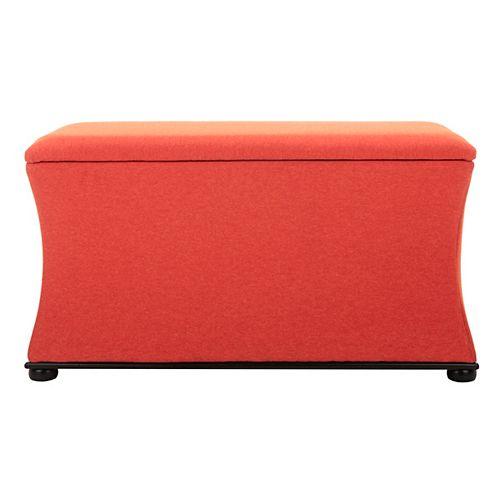 Safavieh Aurora Black/Orange Storage Bench