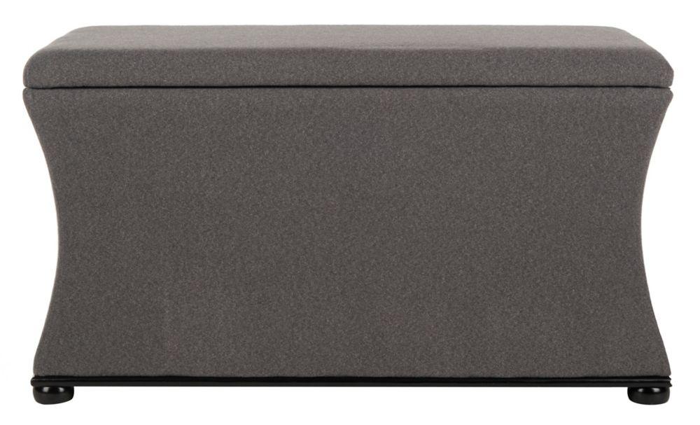 ihCASADECOR Pleather Impression Bench with Storage Gray