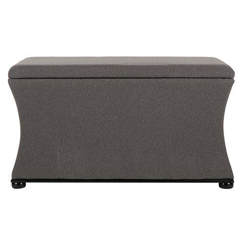 Safavieh Aurora Black/Gray Storage Bench
