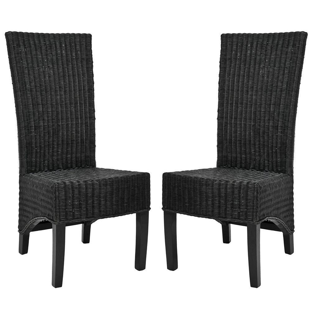 Safavieh Chaise de Côté Noir Sieste (ensemble de 2)