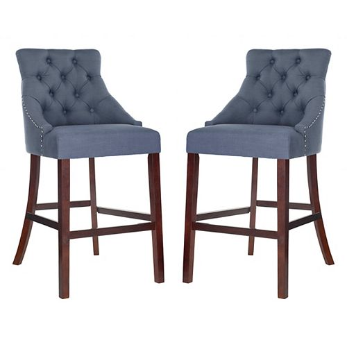 Eleni 45 in. Navy Bar Stool (Set of 2)