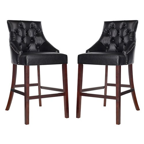 Eleni 45 in. Black Bar Stool (Set of 2)