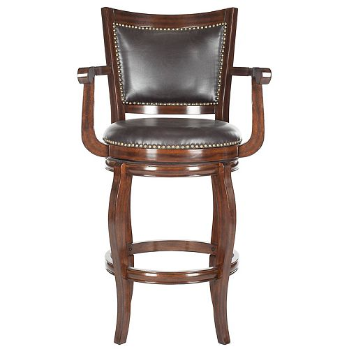 Gitano 46 in. Espresso/Brown Bar Stool