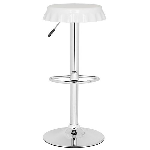 Safavieh Bunky 23.6 in. White Bar Stool