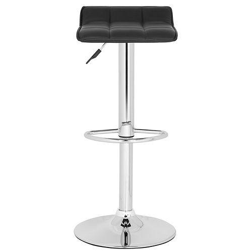 Safavieh Lamita 25.2 in. Black Bar Stool