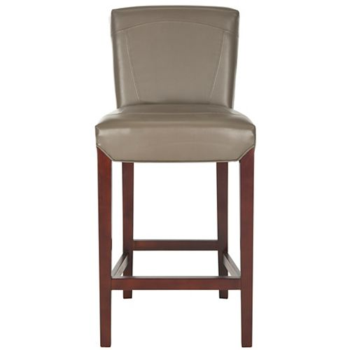Ken 43.7 in. Clay/Cherry Mahogany Bar Stool