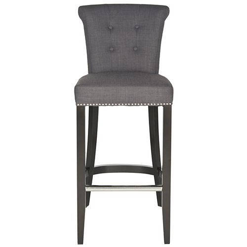 Addo 43.7 in. Charcoal/Espresso Bar Stool