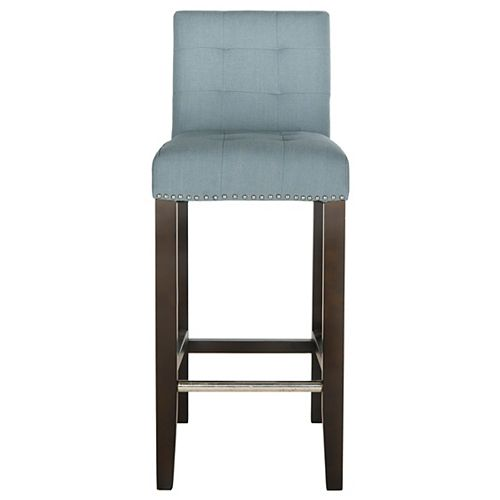 Thompson 40.6 in. Sky Blue/Espresso Bar Stool