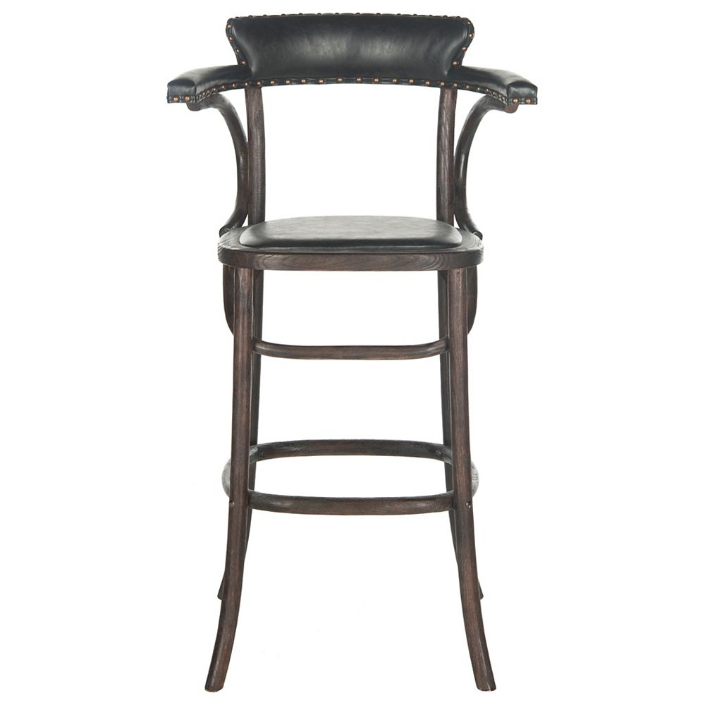Safavieh Kenny 42.9 in. Antique Black/Dark Umber Bar Stool