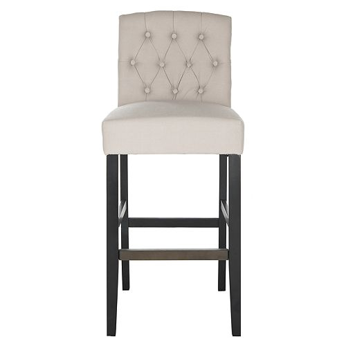 Maisie 43.7 in. Taupe/Black Bar Stool