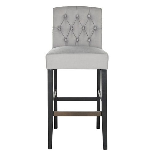 Maisie 43.7 in. Gray/Black Bar Stool