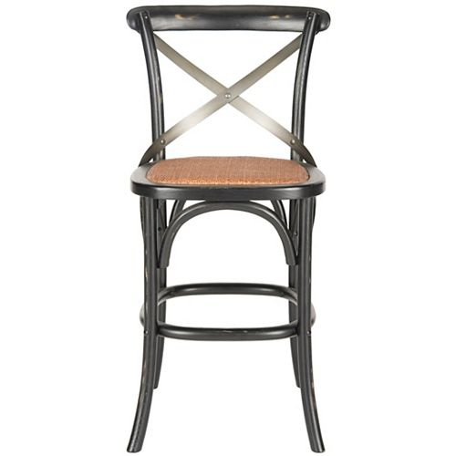 Eleanor 38.4 in. Distressed Hickory/Medium Brown Counter Stool