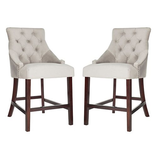 Eleni 41 in. Gray Counter Stool (Set of 2)
