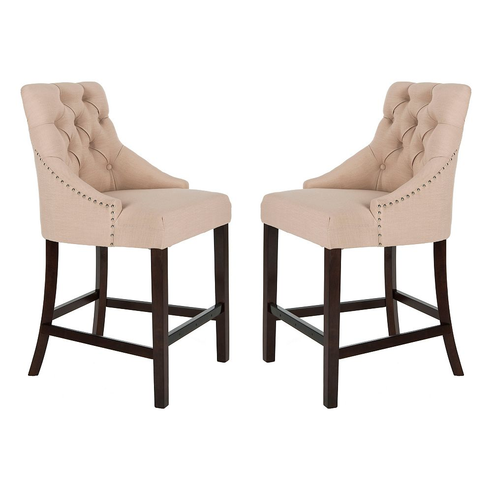 Safavieh Eleni 41 in. Beige Counter Stool (Set of 2)