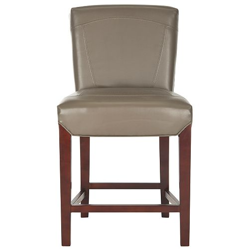 Ken 37 in. Clay/Cherry Mahogany Counter Stool