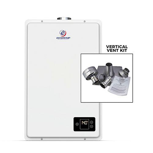 20HI Indoor 6.0 GPM Liquid Propane Tankless Water Heater Vertical Bundle