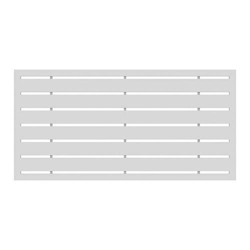 Barrette 2' x 4' Decorative Screen Panel - Boardwalk  White