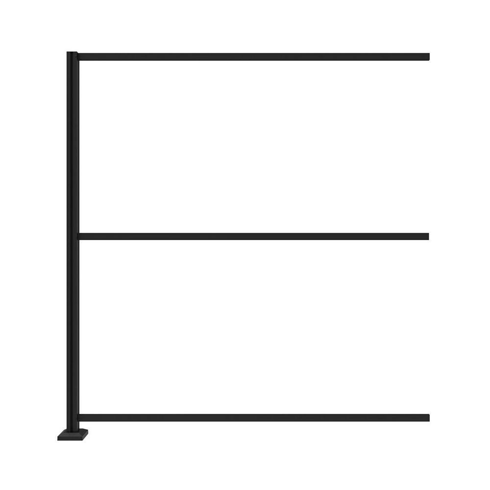 Barrette Frame Kit Extension For Corner Installation For 34x68 Panels - Matte black