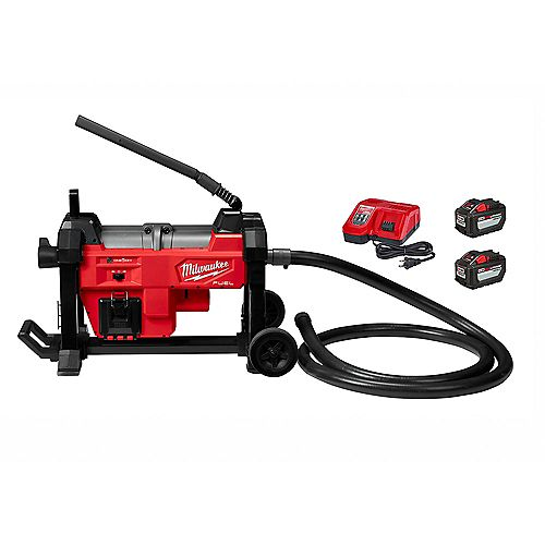 M18 FUEL 18V Li-Ion Brushless Cordless Sewer Sectional Machine Kit w/ (2) 12.0Ah Batteries & Charger