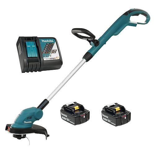 10.25-inch 18V LXT Cordless Line Trimmer with 3.0 Ah Batteries & Rapid Charger