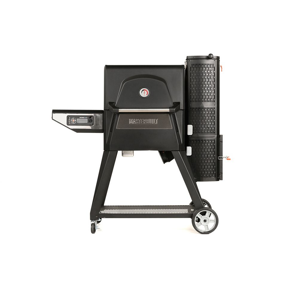 Masterbuilt Gril au charbon numérique Gravity Series 560 + fumoir en noir