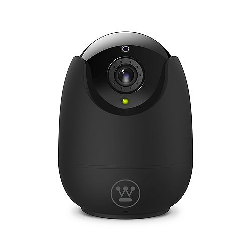 360 Indoor Wifi-Enabled Pan and Tilt Security Camera in Matte Black