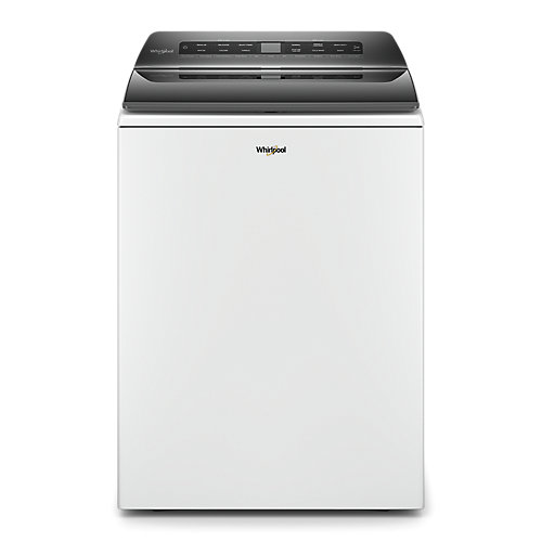 5.4 cu. ft. Top Load Washer with Built-In Water Faucet and Pretreat Station in White