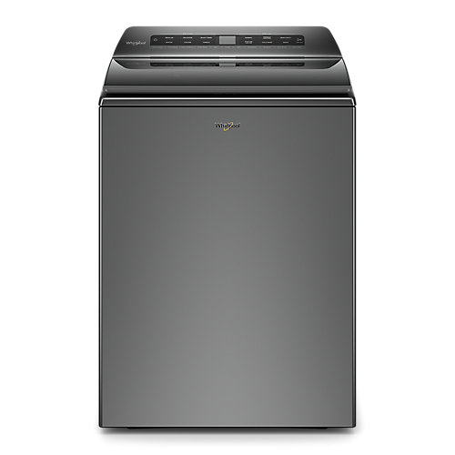 5.4 cu. ft. Top Load Washer with Built-In Water Faucet and Pretreat Station in Chrome Shadow