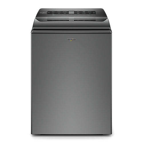 5.5 cu. ft. Smart Top Load Washer with Load and Go in Chrome Shadow