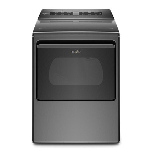 7.4 cu. Ft. Smart Front Load Electric Dryer in Chrome Shadow