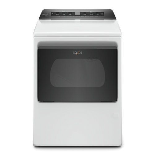 7.4 cu. ft. Front Load Gas Dryer with Hamper Door in White