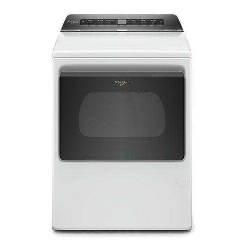 7.4 cu. ft. Smart Front Load Gas Dryer with Hamper Door in White