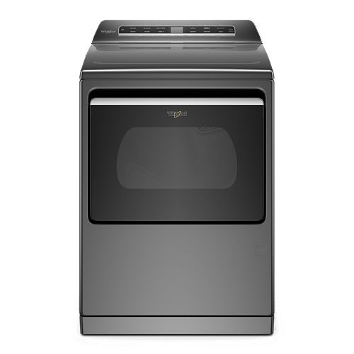 7.4 cu. ft. Smart Gas Dryer with a Hamper Door and Steam in Chrome Shadow - ENERGY STAR®
